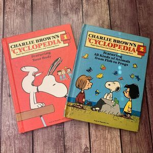 PEANUTS VTG Charlie Brown Cyclopedia Vol 1, 2